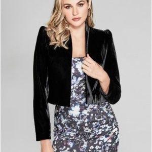 Marciano Black Velvet Blazer Size 6
